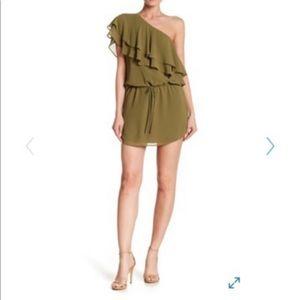 Haute Hippie layered ruffle popover dress
